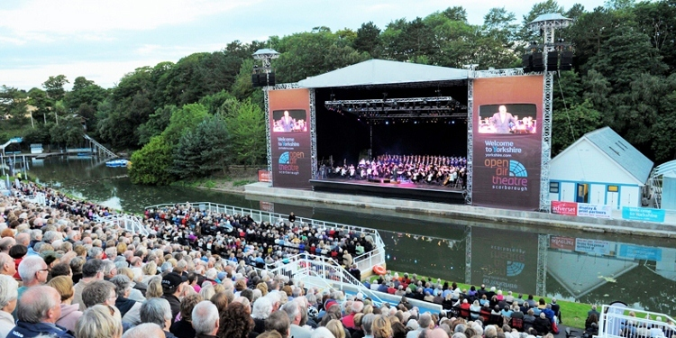 Crowds at Scarborough's Open Air Theatre