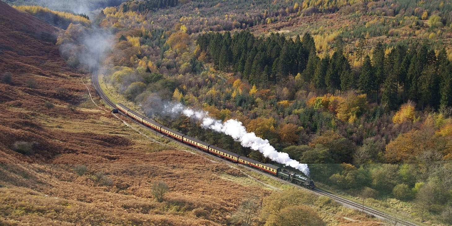 North Yorkshire Moors steam train